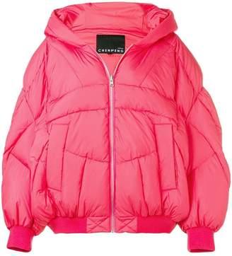 Cheng Peng hooded puffer jacket