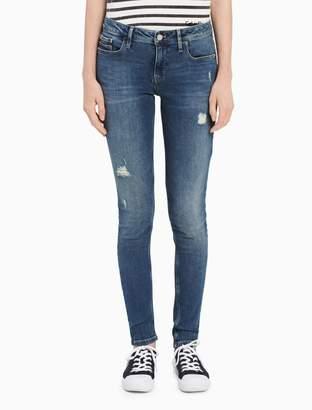 Calvin Klein ultimate skinny blue destructed jeans