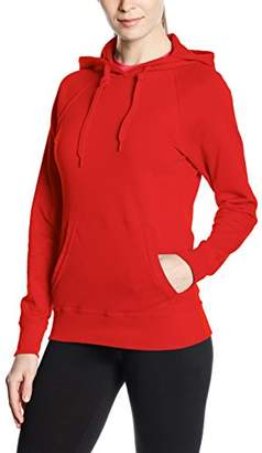 Fruit of the Loom Women's Pull-Over Lightweight Hooded Sweat,14 (Manufacturer Size:)