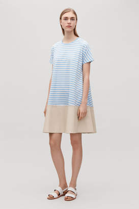 Cos CONTRAST-PANELLED JERSEY DRESS