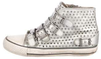 Ash Girls' Leather High-Top Sneakers