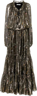Altuzarra Currie Silk-Blend Long Sleeve Maxi Dress