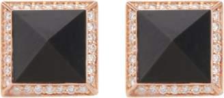 Roberto Coin Obelisco Black Jade Earrings