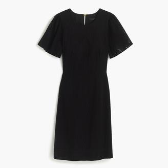 Petite flutter-sleeve dress in eyelet $138 thestylecure.com