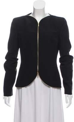 Alexander McQueen Zipper-Accented Bateau Neck Jacket