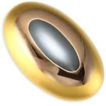 Kantis Fine Tri-Tone Gold Dome Ring