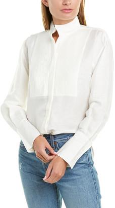 Frame Tux Linen-Blend Shirt