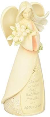 Enesco Foundations Mother Angel Stone Resin Figurine