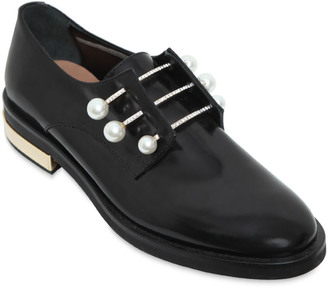 20mm Fernanda Leather Piercing Shoes $721 thestylecure.com