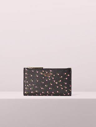 Kate Spade Sylvia Meadow Small Slim Bifold Wallet, Black