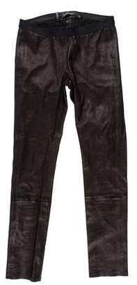 ThePerfext Leather Low-Rise Leggings