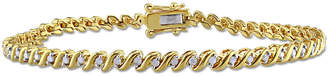 Rina Limor Fine Jewelry 18K Over Silver 0.49 Ct. Tw. Diamond Bracelet