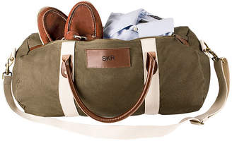Asstd National Brand Cathy's Concepts Personalized Canvas and Leather Duffel Bag