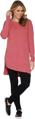 Anybody AnyBody Loungewear Cozy Knit Angled Hi-Lo Tee