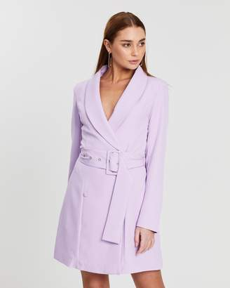 Missguided Self-Belted Blazer Dress