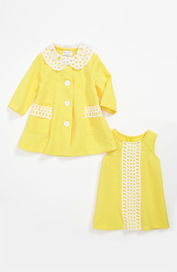Bonnie Baby Iris & Ivy Shift Dress & Jacket (Toddler)