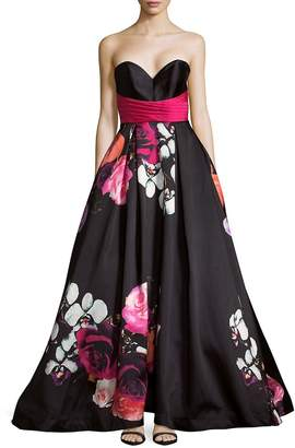 Mac Duggal Women's Floral Sweetheart Dress