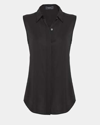 Theory Silk Sleeveless Shirt