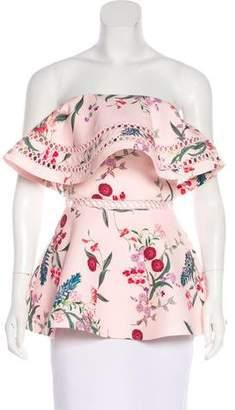 Keepsake Strapless Floral Print Top