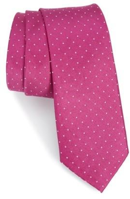 Men's Nordstrom Men's Shop Hartwell Dot Silk Skinny Tie $39.50 thestylecure.com