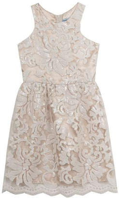 Rare Editions Embroidered Lace Dress $130 thestylecure.com