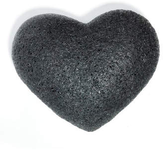 One Love Organics Cleansing Sponge Charcoal Heart