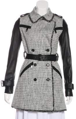 Rachel Zoe Tweed Trench Coat