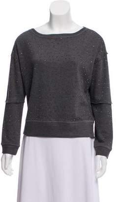 Alice + Olivia Embellished Lightweight Sweatshirt