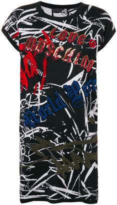 Love Moschino graffiti sweater dress