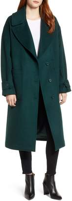 Halogen Drop Shoulder Wool Blend Coat