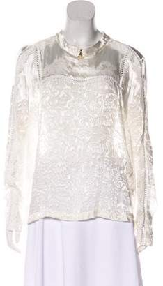 Preen by Thornton Bregazzi Silk-Blend Patterned Top