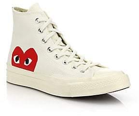 Comme des Garcons Women's Peek-A-Boo Canvas Sneakers
