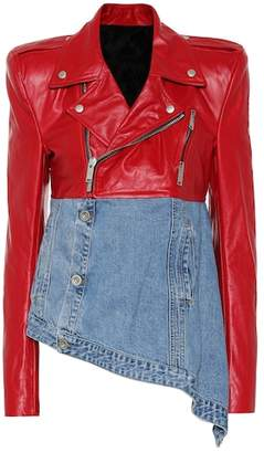 Unravel Leather and denim jacket