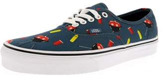 Vans Authentic Pool Vibes Blue Ashes/True White Ankle-High Canvas Skateboarding Shoe - 7.5M / 6M