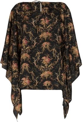By Walid Camilla floral print kaftan blouse