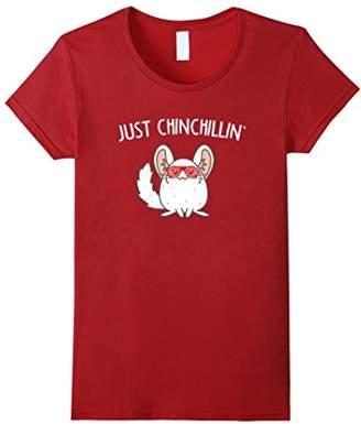 Just Chinchillin' Chinchilla Animal Pun T Shirt