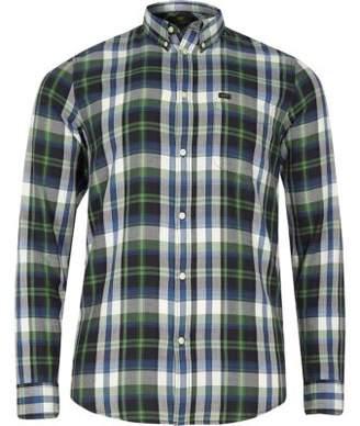 River Island Big and Tall green check long sleeve shirt