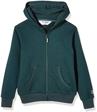 Kid Nation Kids' Solid Brushed Fleece Zip Hooded Sweatshirt in 8 Color XS