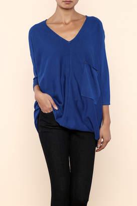 Kerisma Blue V-Neck Sweater $59.99 thestylecure.com
