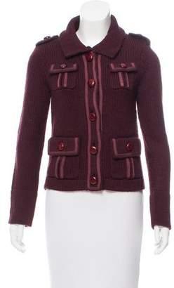 Marc Jacobs Wool Rib Knit Cardigan