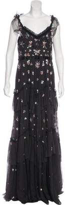 Needle & Thread Embellished Sleeveless Maxi Dress