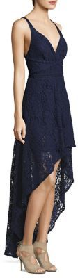 Laundry by Shelli Segal Hi-Lo Lace Gown $295 thestylecure.com