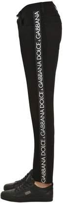 Dolce & Gabbana Logo Tape Cotton Denim Jeans