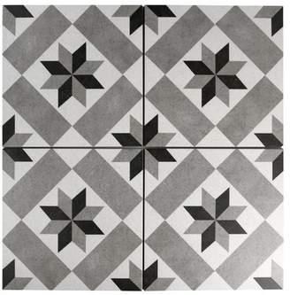EliteTile Annata Star 9.75 x 9.75 Porcelain Field Tile in Gray
