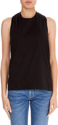 Victoria Beckham Victoria Sleeveless Knot-Back Cotton T-Shirt