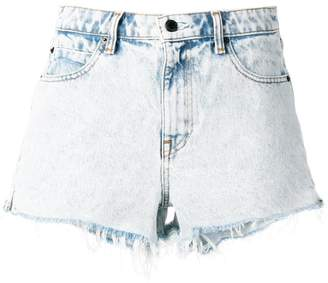 Alexander Wang raw hem denim short-shorts