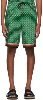 Dries Van Noten Green Perka Shorts