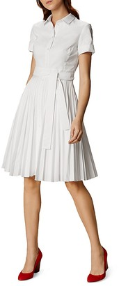 KAREN MILLEN Pleated Shirt Dress $360 thestylecure.com