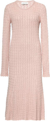 Mansur Gavriel Cableknit Knee-length Sweater Dress