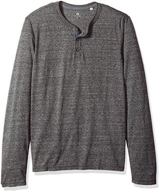 AG Adriano Goldschmied Men's Clyde Long Sleeve Heathered Henley